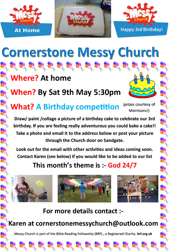 Messy Chruch Birthday Poster Competition